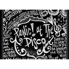 Panic ! At The Disco Lyric Quotes Birthday Cake 3d Greeting Card (7x5) by Onesevenart