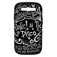 Panic ! At The Disco Lyric Quotes Samsung Galaxy S Iii Hardshell Case (pc+silicone) by Onesevenart