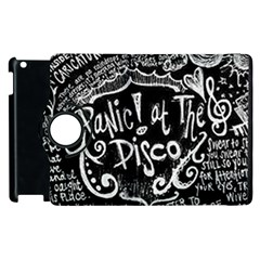 Panic ! At The Disco Lyric Quotes Apple Ipad 2 Flip 360 Case by Onesevenart