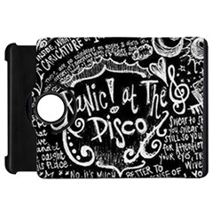 Panic ! At The Disco Lyric Quotes Kindle Fire Hd Flip 360 Case by Onesevenart