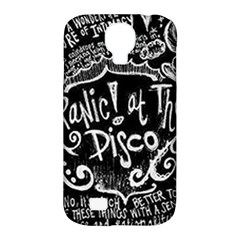 Panic ! At The Disco Lyric Quotes Samsung Galaxy S4 Classic Hardshell Case (pc+silicone) by Onesevenart