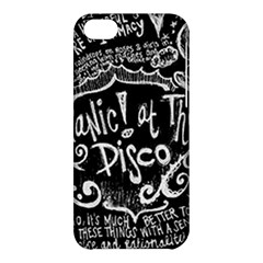 Panic ! At The Disco Lyric Quotes Apple Iphone 5c Hardshell Case by Onesevenart