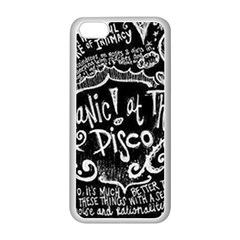 Panic ! At The Disco Lyric Quotes Apple Iphone 5c Seamless Case (white) by Onesevenart
