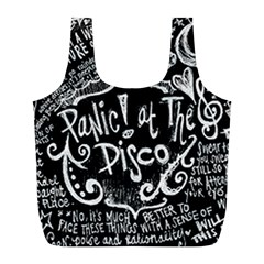 Panic ! At The Disco Lyric Quotes Full Print Recycle Bags (l)  by Onesevenart