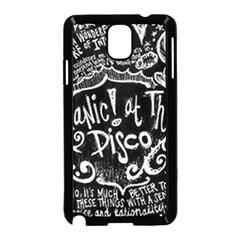Panic ! At The Disco Lyric Quotes Samsung Galaxy Note 3 Neo Hardshell Case (black) by Onesevenart
