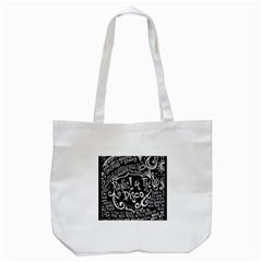 Panic ! At The Disco Lyric Quotes Tote Bag (white) by Onesevenart
