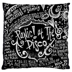 Panic ! At The Disco Lyric Quotes Large Flano Cushion Case (two Sides) by Onesevenart