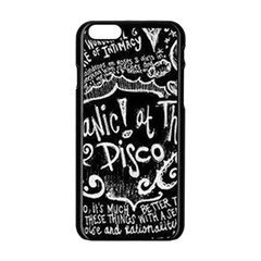 Panic ! At The Disco Lyric Quotes Apple Iphone 6/6s Black Enamel Case by Onesevenart