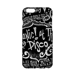 Panic ! At The Disco Lyric Quotes Apple Iphone 6/6s Hardshell Case by Onesevenart