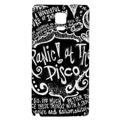 Panic ! At The Disco Lyric Quotes Galaxy Note 4 Back Case by Onesevenart