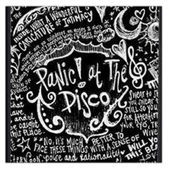 Panic ! At The Disco Lyric Quotes Large Satin Scarf (square) by Onesevenart