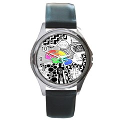 Panic ! At The Disco Round Metal Watch by Onesevenart