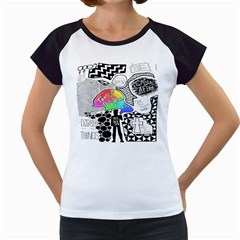 Panic ! At The Disco Women s Cap Sleeve T by Onesevenart