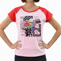 Panic ! At The Disco Women s Cap Sleeve T Shirt by Onesevenart