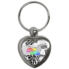Panic ! At The Disco Key Chains (heart)  by Onesevenart