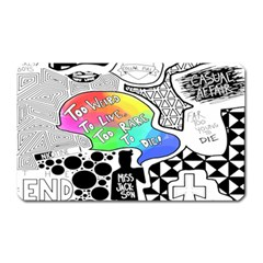 Panic ! At The Disco Magnet (rectangular) by Onesevenart