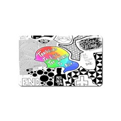 Panic ! At The Disco Magnet (name Card) by Onesevenart