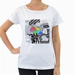 Panic ! At The Disco Women s Loose-Fit T-Shirt (White)