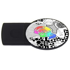 Panic ! At The Disco Usb Flash Drive Oval (4 Gb)  by Onesevenart