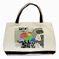 Panic ! At The Disco Basic Tote Bag by Onesevenart