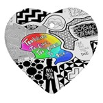 Panic ! At The Disco Heart Ornament (2 Sides)