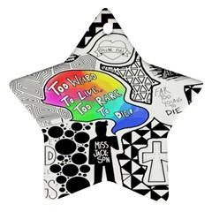 Panic ! At The Disco Star Ornament (two Sides)  by Onesevenart