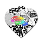 Panic ! At The Disco Dog Tag Heart (One Side)