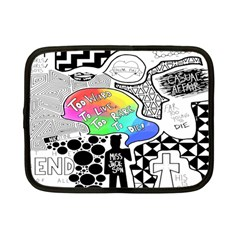 Panic ! At The Disco Netbook Case (small)  by Onesevenart