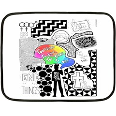 Panic ! At The Disco Double Sided Fleece Blanket (mini)  by Onesevenart