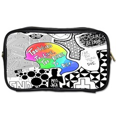 Panic ! At The Disco Toiletries Bags by Onesevenart