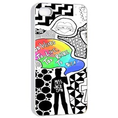 Panic ! At The Disco Apple Iphone 4/4s Seamless Case (white) by Onesevenart