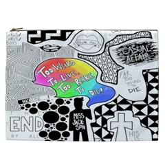 Panic ! At The Disco Cosmetic Bag (xxl)  by Onesevenart
