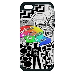 Panic ! At The Disco Apple Iphone 5 Hardshell Case (pc+silicone) by Onesevenart