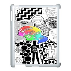 Panic ! At The Disco Apple Ipad 3/4 Case (white) by Onesevenart