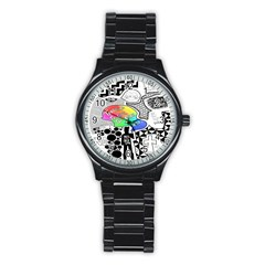 Panic ! At The Disco Stainless Steel Round Watch by Onesevenart
