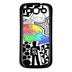 Panic ! At The Disco Samsung Galaxy S3 Back Case (black) by Onesevenart