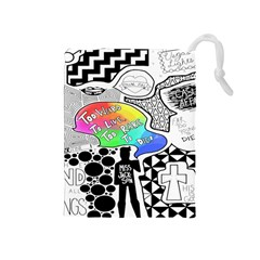 Panic ! At The Disco Drawstring Pouches (medium)  by Onesevenart