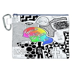 Panic ! At The Disco Canvas Cosmetic Bag (xxl) by Onesevenart