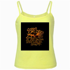 Panic At The Disco   Lying Is The Most Fun A Girl Have Without Taking Her Clothes Yellow Spaghetti Tank by Onesevenart