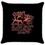 Panic At The Disco   Lying Is The Most Fun A Girl Have Without Taking Her Clothes Throw Pillow Case (Black)