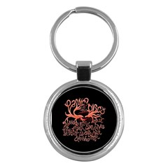 Panic At The Disco   Lying Is The Most Fun A Girl Have Without Taking Her Clothes Key Chains (round)  by Onesevenart