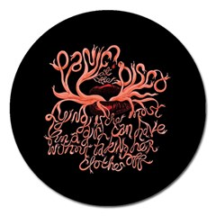 Panic At The Disco   Lying Is The Most Fun A Girl Have Without Taking Her Clothes Magnet 5  (round) by Onesevenart