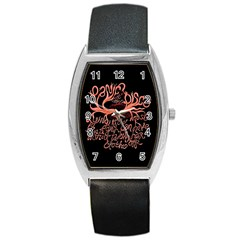 Panic At The Disco   Lying Is The Most Fun A Girl Have Without Taking Her Clothes Barrel Style Metal Watch by Onesevenart