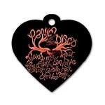 Panic At The Disco   Lying Is The Most Fun A Girl Have Without Taking Her Clothes Dog Tag Heart (One Side)
