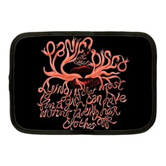 Panic At The Disco   Lying Is The Most Fun A Girl Have Without Taking Her Clothes Netbook Case (medium)  by Onesevenart