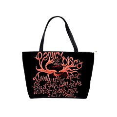 Panic At The Disco   Lying Is The Most Fun A Girl Have Without Taking Her Clothes Shoulder Handbags by Onesevenart