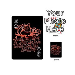 Panic At The Disco   Lying Is The Most Fun A Girl Have Without Taking Her Clothes Playing Cards 54 (Mini)  by Onesevenart