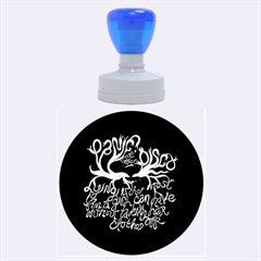 Panic At The Disco   Lying Is The Most Fun A Girl Have Without Taking Her Clothes Rubber Round Stamps (large) by Onesevenart