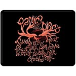 Panic At The Disco   Lying Is The Most Fun A Girl Have Without Taking Her Clothes Double Sided Fleece Blanket (Large)