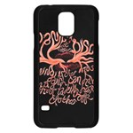 Panic At The Disco   Lying Is The Most Fun A Girl Have Without Taking Her Clothes Samsung Galaxy S5 Case (Black)
